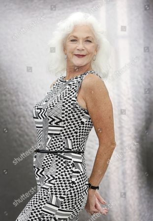 Canadian Actress Linda Thorson Poses During a Photocall at the Monte Carlo Television Festival in Monaco 12 June 2013 the Festival Runs From 09 to 13 June Monaco Monte Carlo