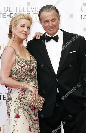 Stock Photo of Us Actors Eric Braeden (r) and Melody Scott Thomas (l) During the Closing Ceremony of the Monte Carlo Television Festival in Monaco 13 June 2013 the Festival Runs From 09 to 13 June Monaco Monte Carlo