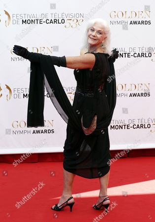 Canadian Actress Linda Thorson Poses During the Closing Ceremony of the Monte Carlo Television Festival in Monaco 13 June 2013 the Festival Runs From 09 to 13 June Monaco Monte Carlo