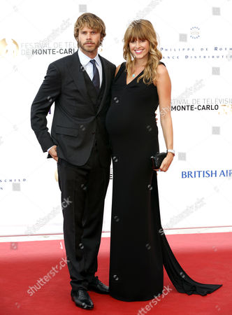 American Actor Eric Christian Olsen (l) and His Wife American Actress Sarah Wright (r) Pose During the Opening Ceremony of the Monte Carlo Television Festival in Monte Carlo Monaco 09 June 2013 the Festival Runs From 09 to 13 June Monaco Monte Carlo