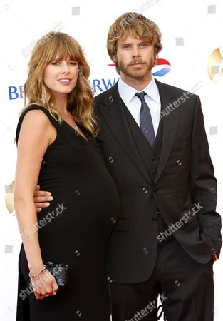 American Actor Eric Christian Olsen (r) and His Wife American Actress Sarah Wright (l) Pose During the Opening Ceremony of the Monte Carlo Television Festival in Monte Carlo Monaco 09 June 2013 the Festival Runs From 09 to 13 June Monaco Monte Carlo