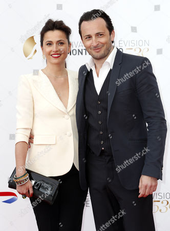 French Actors Anne Charrier (l) and Michael Cohen Pose During the Opening Ceremony of the Monte Carlo Television Festival in Monte Carlo Monaco 09 June 2013 the Festival Runs From 09 to 13 June Monaco Monte Carlo