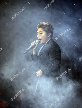 Stock Image of A Picture Made Available on 20 July 2013 Shows Filipino Singer Charice Pempengco Performing During the Yahoo! Omg! Awards in Pasay City South of Manila Philippines on 19 July 2013 Pempengco who Has Appeared on the Us Television Show Glee is Expected to Release a New Music Album in September Philippines Manila