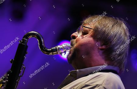 A Picture Made Available on 13 July 2013 Shows Brittish Saxophone Player and Jazz Composer John Surman Performing with the Band Valhalla During the 17th Garana Jazz Festival 2013 in Garana Village (wolfsberg) Romania Late 12 July 2013 the Garana Jazz Festival Takes Place Annually in the Wild Surroundings of Semenic Mountain Foot Western Romania Romania Garana