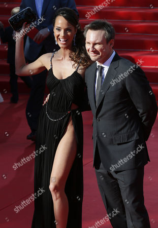 Us Actor Christian Slater (r) and Russian Actress Sofya Skya (l) Arrives For the Opening Ceremony of the 35th International Film Festival in Moscow Russia 20 June 2013 the Event Will Run Until 29 June Russian Federation Moscow