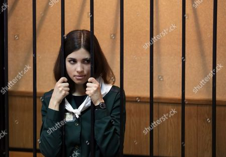 Russian Feminist Punk-rock Band Pussy Riot Member Nadezhda Tolokonnikova Attends a Court Session at the Zubova Polyana District Court in Town of Zubova Polyana 440 Km Southeast From Moscow Republic of Mordovia Russia 26 April 2013 the Court Considers Nadezhda Tolokonnikova's Appeal For Parole in August 2012 Three Members of Russian Feminist Punk-rock Band Pussy Riot Yekaterina Samutsevich Maria Alyokhina and Nadezhda Tolokonnikova Were Sentenced to Two Years in Prison on Charges of Hooliganism Motivated by Religious Hatred After Singing a Song in the Christ the Savior Cathedral in Moscow in February 2012 Ahead of Presidential Elections in Russia Russian Federation Zubova Polyana