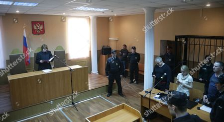 An General View of the Courtroom Shows Russian Feminist Punk-rock Band Pussy Riot Member Nadezhda Tolokonnikova in a Cage Listening to the Court Verdict During a Court Session at the Zubova Polyana District Court in the Town of Zubova Polyana 440 Km Southeast From the Center of Moscow Russia 26 April 2013 the Court Rejected Tolokonnikova's Appeal For Parole in August 2012 Russian Feminist Punk-rock Band Pussy Riot Three Members Yekaterina Samutsevich Maria Alyokhina and Nadezhda Tolokonnikova Were Sentenced to Two-year Prison on Charges of Hooliganism Motivated by Religious Hatred After Singing a Song in the Christ the Savior Cathedral in Moscow in February 2012 Ahead of Presidential Elections in Russia Later the Court Replaced Yekaterina Samutsevich's Jail Term For a Suspended Sentence Russian Federation Zubova Polyana