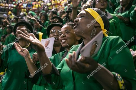 African National Congress (anc) Party Members Hold a Prayer Service For Former South African President Nelson Mandela at the Standard Bank Arena in Central Johannesburg South Africa 08 December 2013 Anc Deputy President Cyril Ramaphosa in an Address Cited Mandela As Saying That While He Still was Alive That the First Thing He Would Do in Heaven was Go to the Nearest Anc Branch and Sign Up Ramaphosa Held the Speech on Request of President Jacob Zuma who Excused Himself Because of the Funeral Preparations For Mandela the Former South African President and Anti-apartheid Icon Nelson Mandela Died After a Long Illness 05 December at the Age of 95 South Africa Johannesburg