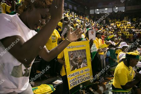 African National Congress (anc) Party Members Hold a Prayer Service For Former South African President Nelson Mandela at the Standard Bank Arena in Central Johannesburg South Africa 08 December 2013 Anc Deputy President Cyril Ramaphosa in an Address Cited Mandela As Saying That While He Still was Alive That the First Thing He Would Do in Heaven was Go to the Nearest Anc Branch and Sign Up Ramaphosa Held the Speech on Request of President Jacob Zuma who Excused Himself Because of the Funeral Preparations For Mandela the Former South African President and Anti-apartheid Icon Nelson Mandela Died After a Long Illness 05 December at the Age of 95 Epa/tj Lemon South Africa Johannesburg