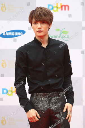 South Korean Dance Group 'Jyj' Member Singer and Actor Kim Jae-joong Arrives For the 2013 Seoul Drama Awards Held at the Haeorum Theater of the National Theater of Korea in Seoul South Korea 05 September 2013 Some 225 Drama Movies From 48 Countries Participate in the Competition Korea, Republic of Seoul