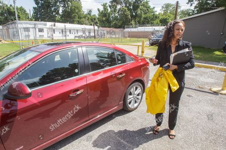 Attorney Carine Williams Arrives at the West Feliciana Parish Detention Center where Her Client Inmate Albert Woodfox is Being Held Pending a Judge's Ruling Woodfox Has Spent the Last 43 Years in Solitary Confinement in St Francisville Louisiana Usa 12 June 2015 Woodfox was Twice Convicted of Killing Louisiana State Penitentiary Guard Brent Miller in April 1972 Two Other Inmates Also Convicted who Served Time in Solitary Confinement Were Previously Released Woodfox the Last of the 'Angola Three ' was Ordered Released by Us District Judge James J Brady and the Decision is in the Hands of the 5th Circuit Court of Appeals United States St. Francisville