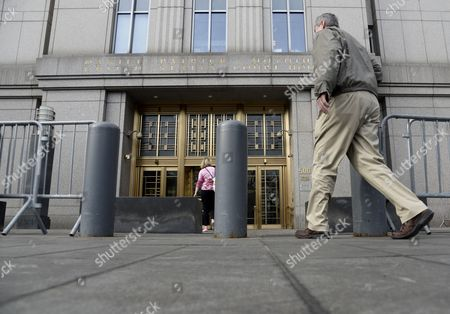 A View of the Federal Court House in Lower Manhattan New York Usa 14 April 2014 Jury Selection Begins on 14 April in the Trial of Abu Hamza a Disabled Egyptian Islamic Preacher who was Extradited From Britain on Charges He Conspired to Support Al-qaida in Part by Trying to Create a Training Camp in Oregon 15 Years Ago United States New York