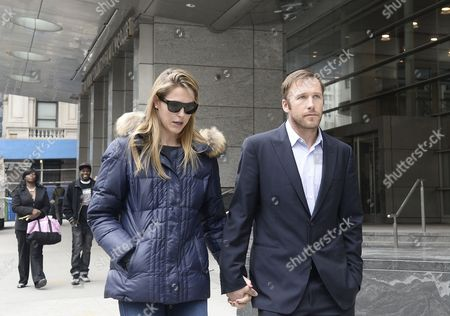 Us Skier Bode Miller (r) and Wife Morgan Beck Miller (l) Leave a Family Court in New York New York Usa 07 April 2014 Miller was at Court Due to a Dispute with His Ex-girlfriend Sara Mckenna Over Custody of Their Son United States New York