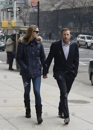 Us Skier Bode Miller (r) and Wife Morgan Beck Miller (l) Arrive at a Family Court in New York New York Usa 07 April 2014 Miller Arrived at Court Due to a Dispute with His Ex-girlfriend Sara Mckenna Over Custody of Their Son United States New York