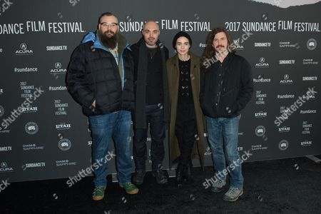 Stock Image of James M. Johnston, David Lowery, Rooney Mara and Toby Halbrooks