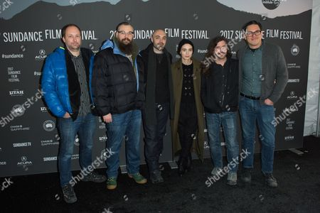 David Maddox, James M. Johnston, David Lowery, Rooney Mara, Toby Halbrooks and Adam Donaghey