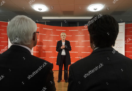 British Labour Leader Ed Miliband (r) and Better Together Leader Former Labour Government Chancellor of the Exchequer Alistair Darling (l) and Listen to Scottish Labour Leader Johann Lamont (c) at a Meeting of Labour Party Campaigners After Their Victory at the Emirates Arena Glasgow Scotland 19 September 2014 Scotland Has Voted to Remain Part of the United Kingdom by 55 Per Cent to 45 Per Cent Officials Said Early 19 September 2014 After All Votes in the Historic Independence Referendum Were Counted Epa/robert Perry United Kingdom Glasgow