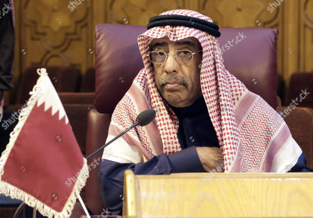 Stock Photo of Qatari Representative at the Arab League Saif Bin Moqadem Albuainain Attends an Extraordinary Meeting of the Arab League Permanent Delegates Held at the League's Headquarters in Cairo Egypt 05 January 2015 the Permanent Delegates of the Arab League Met on 05 January to Discuss the Deepening Crisis and Violence in Libya Libya Has in Recent Months Seen Its Worst Violence Since the Ouster of Longtime Dictator Muammar Gaddafi in 2011 Islamist Militias Seized the Libyan Capital in August Forcing the Elected Parliament and the Internationally Recognized Government to Relocate to Tobruk Heightening Power Struggle in the Oil-rich Country Egypt Cairo