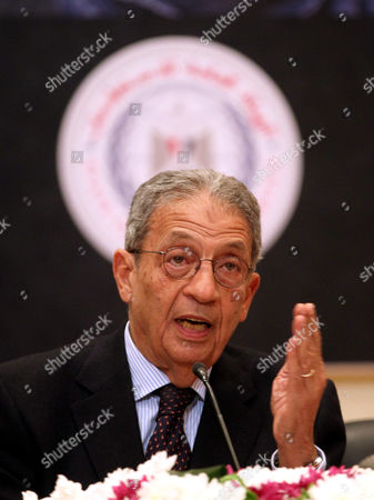 Head of the Egyptian Constitutional Committee Amr Moussa Speaks During a Press Conference in Cairo Egypt 15 December 2013 Egyptian Interim President Adly Mansour Announced on 14 December That a Referendum on a Draft Constitution Will Be Held on 14-15 January 2014 Marking the First Major Step in the Country's Military-backed Political Transition Egypt Cairo