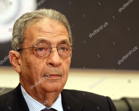 Head of the Egyptian Constitutional Committee Amr Moussa Looks on During a Press Conference in Cairo Egypt 15 December 2013 Egyptian Interim President Adly Mansour Announced on 14 December That a Referendum on a Draft Constitution Will Be Held on 14-15 January 2014 Marking the First Major Step in the Country's Military-backed Political Transition Egypt Cairo