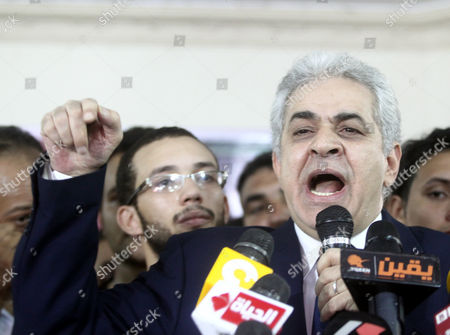 Egypt's Leftist Presidential Contender Hamdeen Sabahi Speaks During a Press Conference in Cairo Egypt 29 May 2014 Sabahi Conceded His Defeat in This Week's Presidential Elections 'I Respect Egyptians' Choice and Admit My Loss ' He Told the Press Conference 'We Have Lost a Round But i Am Sure We'll Ultimately Win in Fulfilling These People's Dreams ' Unofficial Results Showed That Former Army Chief Abdel-fattah Al-sisi Has Won a Landslide Victory in Egypt's Presidential Election with 96 9 Per Cent of the Valid Ballots Egypt Cairo