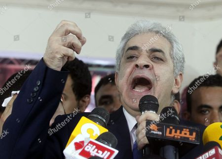 Egypt's Presidential Contender Hamdeen Sabahi Speaks During a Press Conference in Cairo Egypt 29 May 2014 Sabahi Conceded His Defeat in This Week's Presidential Elections 'I Respect Egyptians' Choice and Admit My Loss ' He Told the Press Conference 'We Have Lost a Round But i Am Sure We'll Ultimately Win in Fulfilling These People's Dreams ' Unofficial Results Showed That Former Army Chief Abdel-fattah Al-sisi Has Won a Landslide Victory in Egypt's Presidential Election with 96 9 Per Cent of the Valid Ballots Egypt Cairo