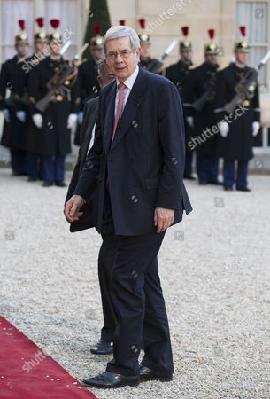 Ceo of Areva Philippe Varin Arrives For an Official Dinner Hosted by French President Francois Hollande (unseen) For Indian Prime Minister Narendra Modi (unseen) at the Elysee Palace in Paris France 10 April 2015 India Will Purchase 36 Rafale Fighter Jets Prime Minister Narendra Modi Said on Friday During His Visit to Paris France Paris