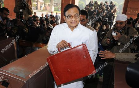India's Finance Minister Palaniappan Chidambaram Arrives to Present the Government's Interim Budget at Parliament House in New Delhi India 17 February 2014 Chidambaram Said As He Announced the Interim Budget That the Greatest Achievement of the United Progressive Alliance During Its Decade-long Rule in India was 'Lifting 140 Million People out of Poverty ' General Elections Are to Be Held by the End of May with the Next Government to Announce the Main Budget India New Delhi