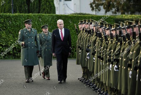 Kevin Michael Vickers (3-l) Newly Appointed Ambassador of Canada to Ireland Inspects a Guard of Honour of the Irish Defence Forces After Presenting His Credentials to Irish President Michael D Higgins (unseen) in Dublin Ireland 21 January 2015 Ireland Dublin