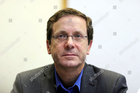 Isaac Herzog Leader of the Zionist Union Party in Their Headquarters when He and Tzipi Livni the Party's Number Two Make Statements on Their Party's Future Following Its Decisive Loss in the Israeli General Election to the Likud Party Led by Prime Minister Netanyahu in Tel Aviv Israel 18 March 2015 Both Said They Would Be Firmly in the Opposition to Netanyahu's 'Nationalist' Government and They Will Continue Fighting For Social Issues with Herzog Saying 'We Will Be a Worthy Real Alternative to the Narrow Radical Right Wing Government ' Israel Tel Aviv