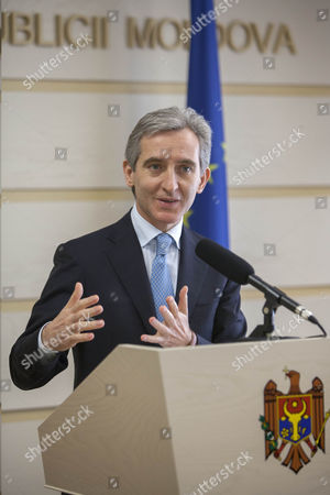 Acting Prime Minister of Moldova Iurie Leanca Gestures at a News Conference Following a Session of the Parliament in Chisinau Moldova 12 February 2015 the Coalition of Democrats and Liberal Democratic Parties Failed to Receive the Necessary Votes For a Government Formation Moldova, Republic of Chisinau