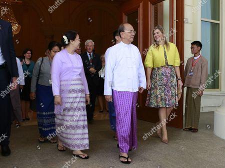 Editorial image of Myanmar Netherlands Royalty - Apr 2015