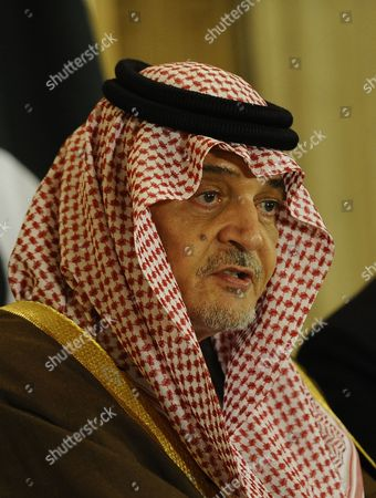 Saudi Arabian Foreign Minister Prince Saud Al Faisal Speaks During a Press Conference with Pakistani Foreign Minister Sartaj Aziz (not Pictured) After Their Meeting in Islamabad Pakistan 07 January 2014 Saud Al Faisal is on a Two-day Official Visit to Pakistan to Discuss Issues of Mutual Interest and Regional Security Pakistan Islamabad