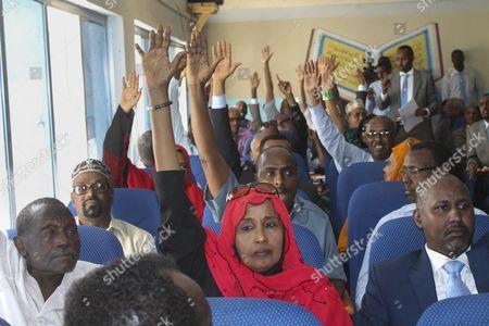 Editorial image of Somalia Prime Minister Parliament - Dec 2014