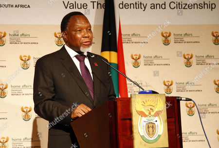 Stock Photo of South African Deputy President Kgalema Motlanthe Speaks at a Graduation Ceremony of Muslim Religious Leaders As Marriage Officers in Cape Town South Africa 30 April 2014 Since Muslims Were First Brought to South Africa As Slaves More Than Three Centuries Ago Their Marriages Had No Legal Standing Before Today's Graduation Ceremony Now For the First Time in South African History Muslim Marriages Will Be Recognised More Than One Hundred Muslim Clerics Or Imams Graduated As Marriage Officers in the Pilot Project by the Department of Home Affairs Marking a Historic Day in South Africa's Young Democracy South Africa is to Hold General Elections on 07 May 2014 Twenty Years Since the End of Apartheid South Africa Cape Town