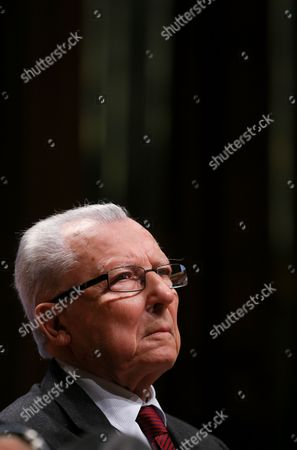 Jacques Delors the French Former President of the European Commission Attends a Debate Reinventing Europe in Brussels Belgium 10 October 2013 Reinventing Europe is a Three-day Debate Organize by Major European Media Organisations Belgium Brussels
