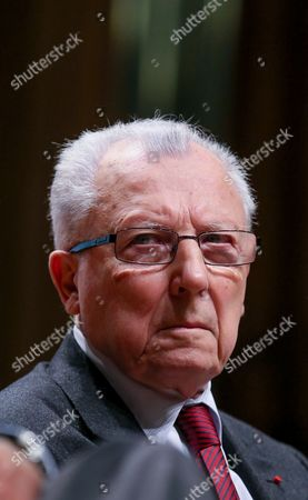 (l-r) Jacques Delors the French Former President of the European Commission Attends a Debate Reinventing Europe in Brussels 10 October 2013 Reinventing Europe is 3 Days Debatye Organize by Major European Media Belgium Brussels