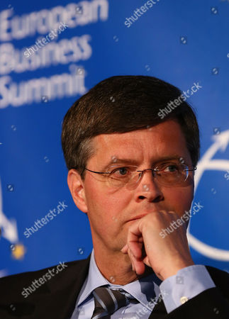 Former Dutch Prime Minister Jan Peter Balkenende Looks on During the European Business Summit at the Autoworld in Brussels Belgium 15 May 2013 the European Business Summit Takes Place From 15 May Till 16 May Belgium Brussels
