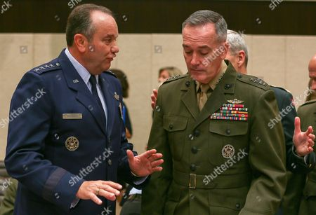 Philip M Breedlove Supreme Allied Commander Europe (saceur) of Nato (l) and Isaf Commander Us General John R Allen (r) at the Start of a Meeting of Ministers of Defence on Non- Nato Isaf Contributing Nations at the Nato Headquarters in Brussels Belgium 05 June 2013 Nato Defence Ministers Are Expected to Agree 05 June on the Cornerstones of the Alliance's Operations in Afghanistan After Its Combat Mission Ends in 2014 During a Second Day of Talks in Brussels Belgium Brussels