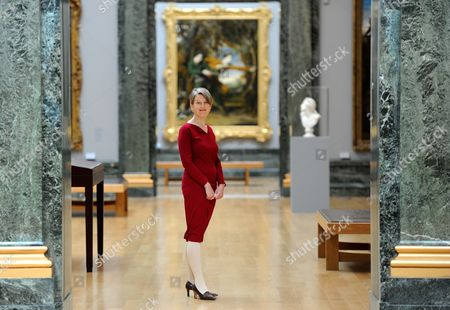 Stock Image of Penelope Curtis Director of Tate Britain Poses For Photographers During a Preview of the 'Walk Through British Art' Exhibition at the Tate Britain in London Britain 13 May 2013 a Collection of British Art Will Be Displayed in the Exhibition in a Chronological Order Starting From the 1500s to the Present Day the Exhibition Will Open to the Public From 14 May United Kingdom London
