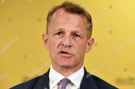 David Laws (r) Minister of State For Schools in the Department For Education Speaks During the Launch of the Liberal Democratic Party's Manifesto in London Britain 12 April 2015 Britain Heads to the Polls in the General Election Slated For 07 May 2015 United Kingdom London