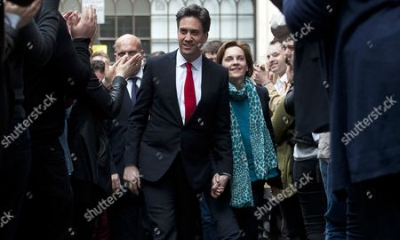 Opposition Labour Leader Ed Miliband (l) and His Wife Justine Thornton (r) Arrive at Labour Party Headquarters in Central London Britain 08 May 2015 Ed Miliband is Expected to Resign His Position As Party Leader After His Rival Conservative Leader David Cameron Appears to Be Heading For a Second Term in Office As an Exit Poll and Early Results Suggested His Conservative Party Would Win Enough Seats to Form a Minority Government United Kingdom London