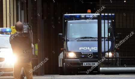 Stock Photo of A Police Van Carrying Ira Bombing Suspect John Anthony Downey Departs the Westminster Magistrates Court in London Britain 22 May 2013 Downey 61 Has Been Charged with the Murder of Four Soldiers in the 1982 Ira Bombing in Hyde Park the Crown Prosecution Service Has Said 22 May Downey is Charged with the Murders of Roy John Bright Dennis Richard Anthony Daly Simon Andrew Tipper and Geoffrey Vernon Young United Kingdom London