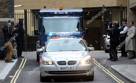 Stock Picture of A Police Van Carrying Ira Bombing Suspect John Anthony Downey Departs the Westminster Magistrates Court in London Britain 22 May 2013 Downey 61 Has Been Charged with the Murder of Four Soldiers in the 1982 Ira Bombing in Hyde Park the Crown Prosecution Service Has Said 22 May Downey is Charged with the Murders of Roy John Bright Dennis Richard Anthony Daly Simon Andrew Tipper and Geoffrey Vernon Young United Kingdom London