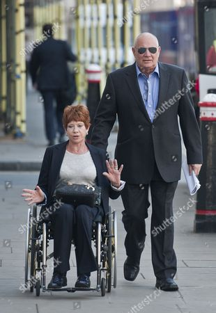Eddy Shah the Former Owner of the Today Newspaper Arrives at the Old Bailey in Central London with His Wheelchair Bound Wife Jennifer 7th May 2013 For the Start of His Trial Mr Shah is Charged with Six Counts of Rape Involving a Girl Under 16 United Kingdom London