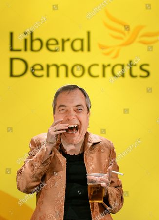 A Liberal Democratic Party Mp From Solihull Lorely Burt Pokes Fun While Wearing a Mask of Ukip Leader Farage During the Liberal Democtratic Party Spring Conference in York Britain 09 March 2014 United Kingdom York