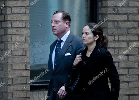 Former News Editor of the News of the World Neville Thurlbeck (l) Arrives at Southwark Crown Court in Relation to the Phone Hacking Scandal in London Britain 05 June 2013 Mr Thurlbeck is Facing a Variety of Charges in Relation the Phone Hacking Scandal United Kingdom London