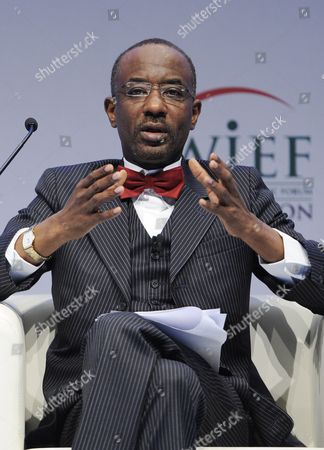 Nigeria's Central Bank Governor Mallam Sanusi Lamido Sanusi Speaks at the World Islamic Economic Forum (wief) in London Britain 30 October 2013 the Wief Established in 2006 Has the Stated Objective of 'Enhancing the Well-being' of Muslims and Muslim Nations Worldwide Through Promotion of Trade and Business Cooperation United Kingdom London