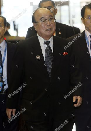 North Korean Foreign Minister Pak Ui Chun Arrives at the International Convention Center For a Meeting at the Asean Regional Forum in Bandar Seri Begawan Brunei Darussalam 01 July 2013 Brunei is the Host Country of the 20th Association of Southeast Asian Nations (asean) Regional Forum (arf) Taking Place on 02 July 2013 Brunei Darussalam Bandar Seri Begawan