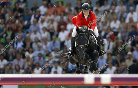 Us Rider Beezie Madden on Horse Orient Cortes 'C' Competes in the Jumping Final Four Event at the World Equestrian Games 2014 in Caen France 07 September 2014 Madden Took the Third Place France Caen